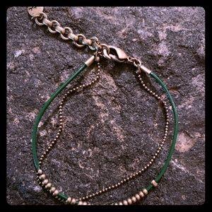C+I layered bracelet